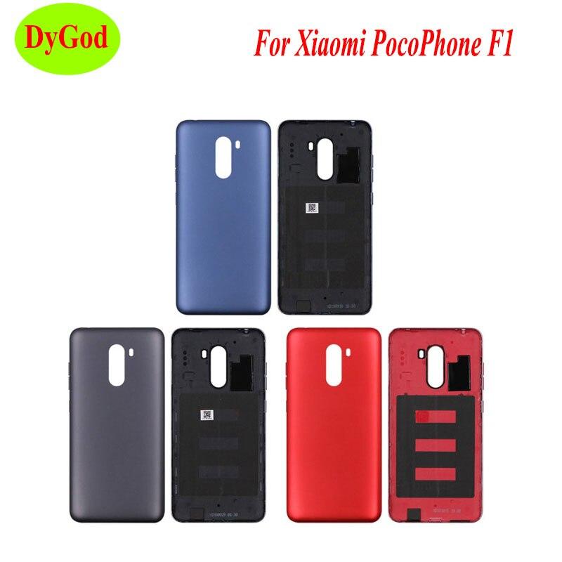 DyGod para Xiaomi pocofone F1 funda de batería para Xiaomi pocofone F1 funda protectora trasera de teléfono carcasa + botón de volumen de alimentación