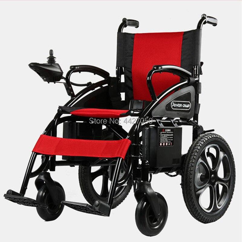 Livraison gratuite fauteuil roulant électrique pliant pour handicapés