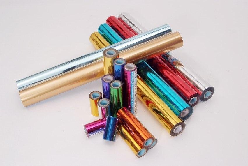 Estampación en caliente, estampado en caliente de varios colores en papel o materiales plásticos, lámina de transferencia, lámina de calor de 64cm x 120m