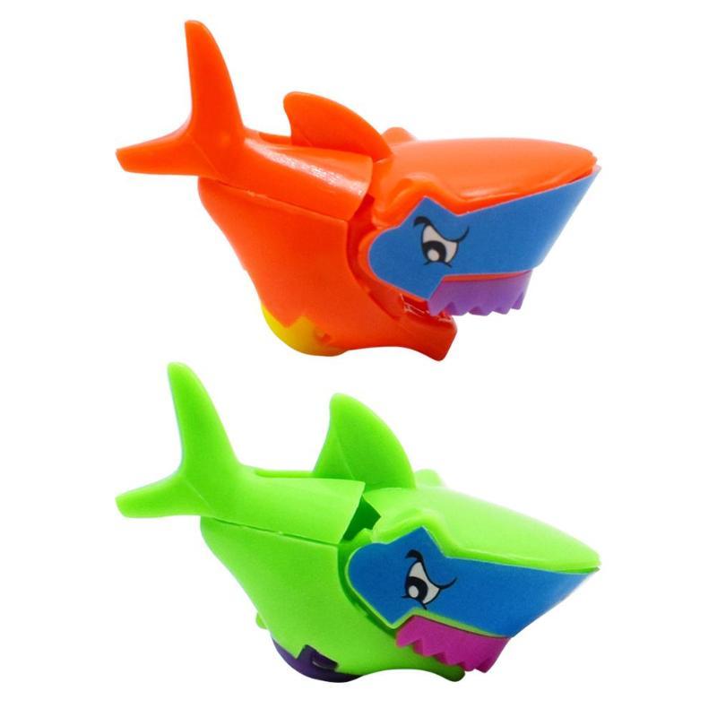 Tiburón de juguete torcido huevos tiburón juguetes pequeños montar rueda de simulación tiburón juguetes niños construcción ladrillos montar rueda Rollin