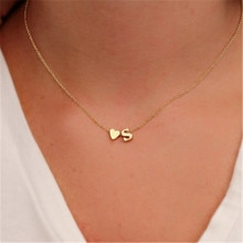 New Fashion Tiny Heart Dainty Initial Necklace With Letter Name Choker Necklace For Women Pendant Je