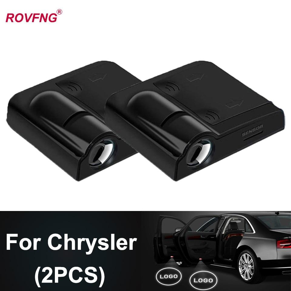 ROVFNG luz Led de puerta de coche para el logotipo de Chrysler...