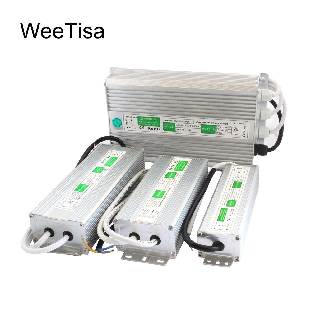 12 V IP67 24 V À Prova D Água LED fonte de Alimentação AC 110 V 220 V para DC 24 12 Volts LEVOU motorista 10 W 20 W 30 W 60 W 100 W 120 W 200 W Transformador