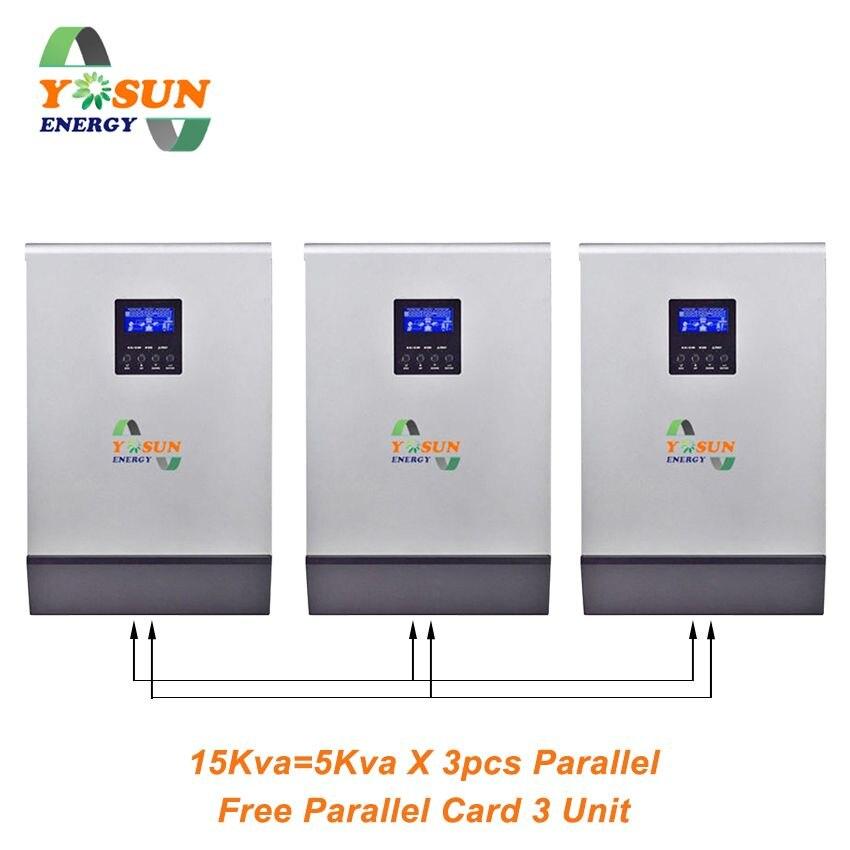 محول الطاقة الشمسية PWM 4000 وات 16000 وات 5Kva ~ 20Kva العاكس 48 فولت 230 فولت تيار متردد موجة جيبية نقية العاكس 50A خارج الشبكة العاكس 60A شاحن بطارية
