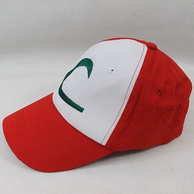 Anime Pokemon figura ASH KETCHUM entrenador disfraz cosplay sombrero cap regalo