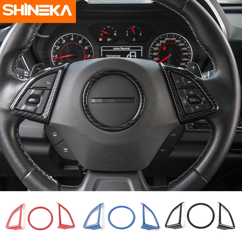 SHINEKA Car Styling volante cubierta embellecedor decorativo pegatina marco para Chevrolet Camaro 2017 +