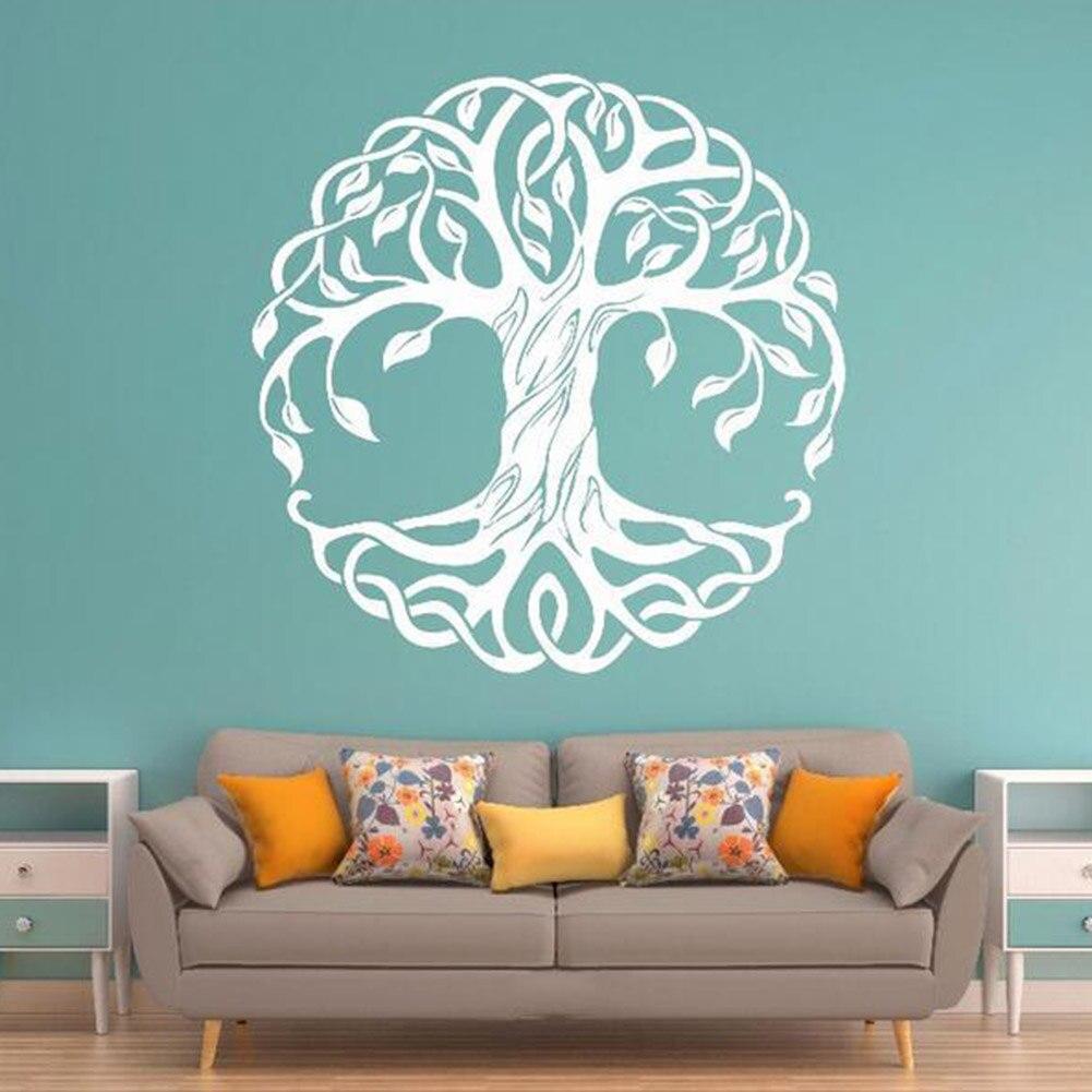 Calcomanías de pared de vid de árbol pegatinas de pared Peel and Stick adhesivos removibles para pared para dormitorio sala de estar pegatinas de arte redondo de árbol