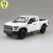 1/24 Maisto Ford F150 F 150 Raptor 2017 Pickup Truck Metal fundido juguetes de modelo de coche para niños niño niña colección de regalo blanco