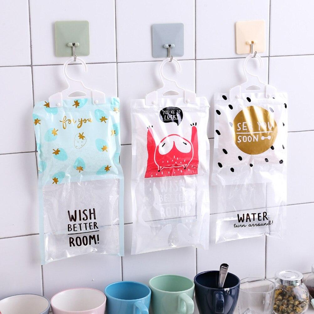 1pcs Raining Pattern Cartoon Anti-Mold Desiccant Bag Hygroscopic Bag Dehumidifier Bags for Cabinet Dormitory Closet Living Room
