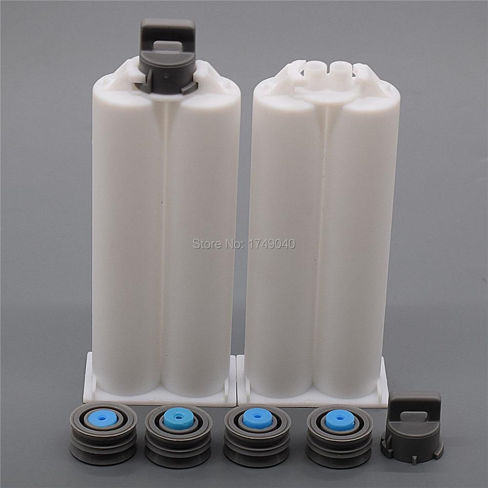 giorgio armani sensi 50ml туалетные духи 50ml гель для душа 50ml лосьон для тела 2pcs 50ml Empty Double-Barrel Cartridge Tube 1:1 Mix Ratio with Sealing Pistons for Double-Barrel 50ml Dispensing Glue Guns Tool
