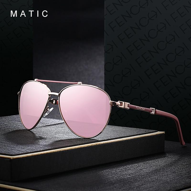 MATIC Женские Ретро Авиаторы Солнцезащитные очки для женщин качественные розовые зеркальные солнцезащитные очки Роскошные брендовые Zonnebril ...