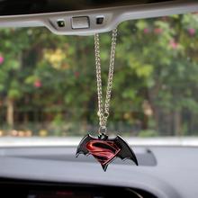 Adornos colgantes de Metal en 3D para el Interior del automóvil con emblema de Superman Batman y accesorios para el coche
