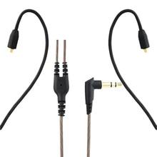 3.5mm 유선 헤드폰 오디오 케이블 교체 이어폰 MMCX 커넥터 Shure SE215/ SE315 / SE425 / SE535 용 분리형 UE900