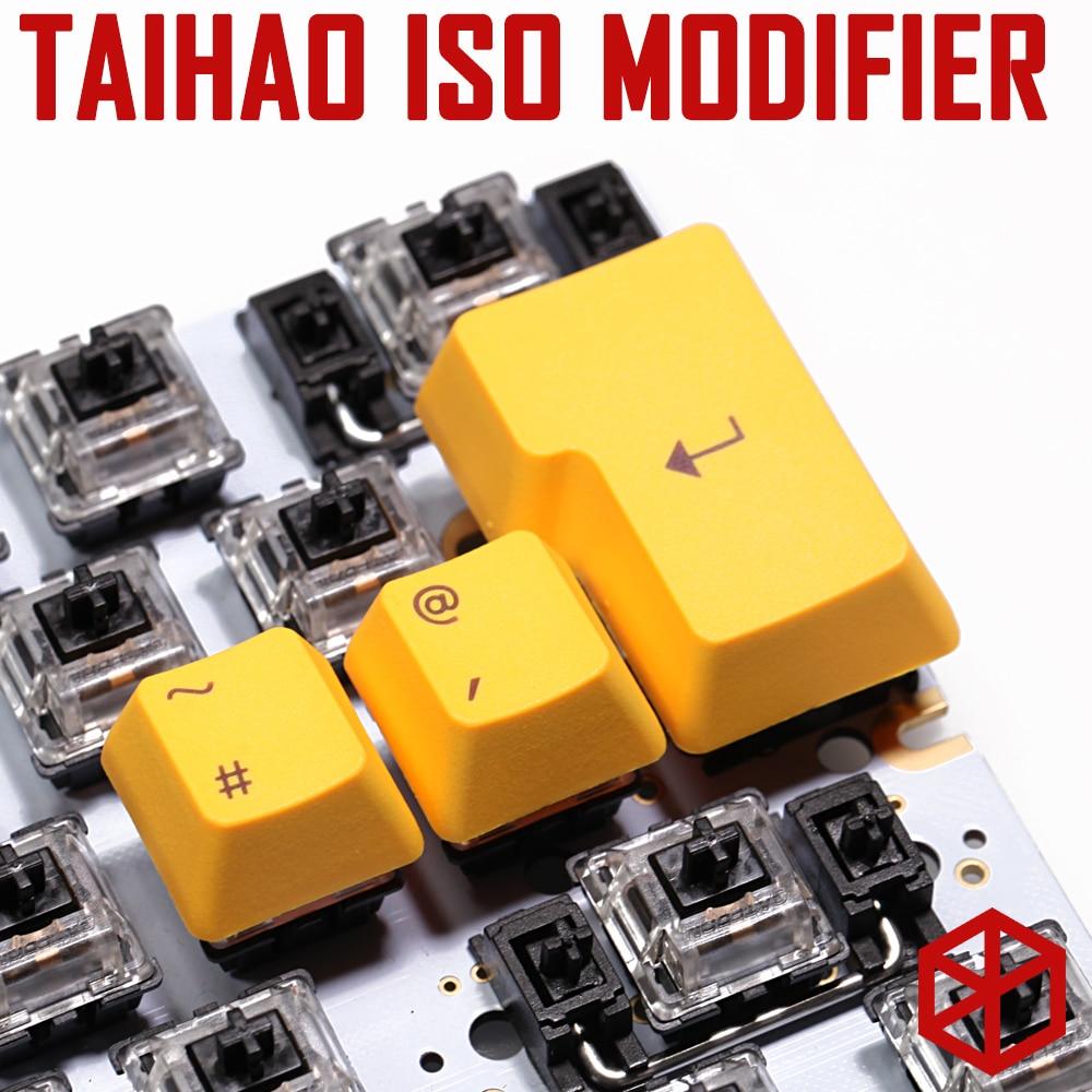 Taihao abs pbt doppel schuss tastenkappen iso modifikator 1.25u shift gaming mechanische tastatur regenbogen schwarz orange rot