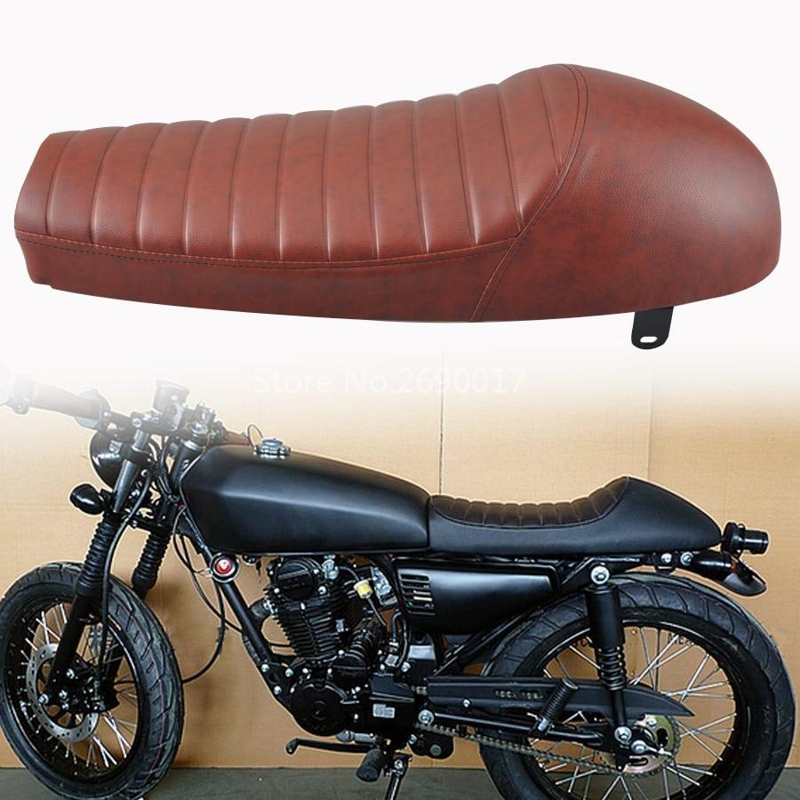 Мотоцикл горизонтальные полосы мягкое сиденье горб кафе гонщик подходит для Suzuki GN125 GN250 GN400 GR650 кафе гонщик сиденье
