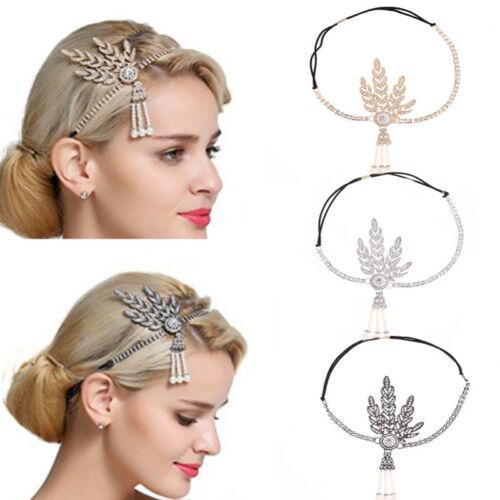 Повязка на голову 1920 s, винтажная, Great Gatsby, Flapper, аксессуары для костюма, жемчужный, Charleston, для вечеринки, женский головной Убор