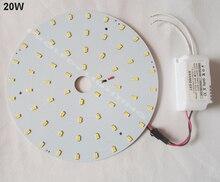 DIY kits 20 W 30 W 40 W oberfläche montiert led-deckenleuchte LED tray disc führte techo PCB LED platte led rundrohr 220 V 230 V 240 V