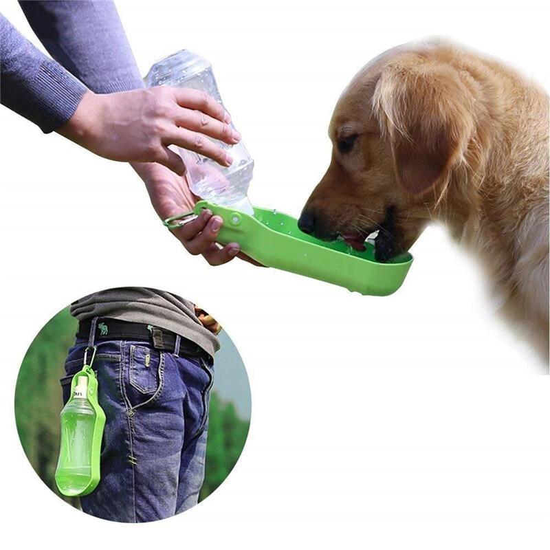 Comederos para mascotas FML para perros coches al aire libre botella de agua portátil dispensador de agua de viaje para perros pequeños accesorios grandes para mascotas