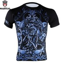 Martial Aquarius séchage rapide mma rashguard chemise homme gym compression boxe sweat-shirts