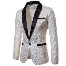 2018 luxe hommes Costume smoking Blazer Slim Fit Costume Unique hommes hommes Blazers robe vestes de mariage fête montre Costume