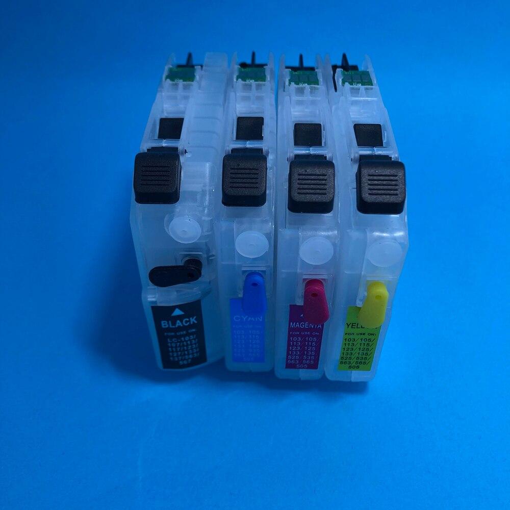 YOTAT LC111 cartucho de tinta recarregáveis para o irmão MFC-J980DN/DWN MFC-J890DN/DWN MFC-J870N com chips ARC
