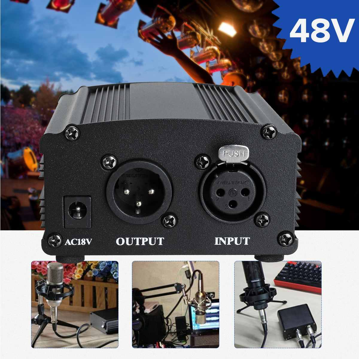 LEORY micrófono 48V Phantom Power 1,5 m Cable de alimentación de bajo ruido para Audio micrófono condensador de grabación equipo