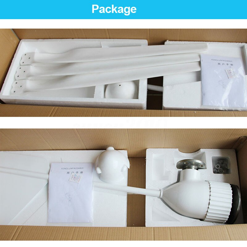 China Wind Turbines Generator 1000Watts for Home use, 1150mm blade windturbine generator 24v 48v 96vac