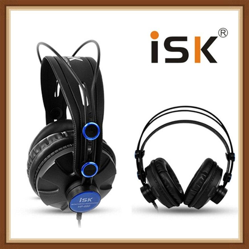 ISK HP680 Dinâmico 1200 mW Poderosa Sobre A Orelha Fone de Ouvido Com Cancelamento de Ruído HiFi Headset Auriculars Pro Monitor de Estúdio DJ Fones De Ouvido