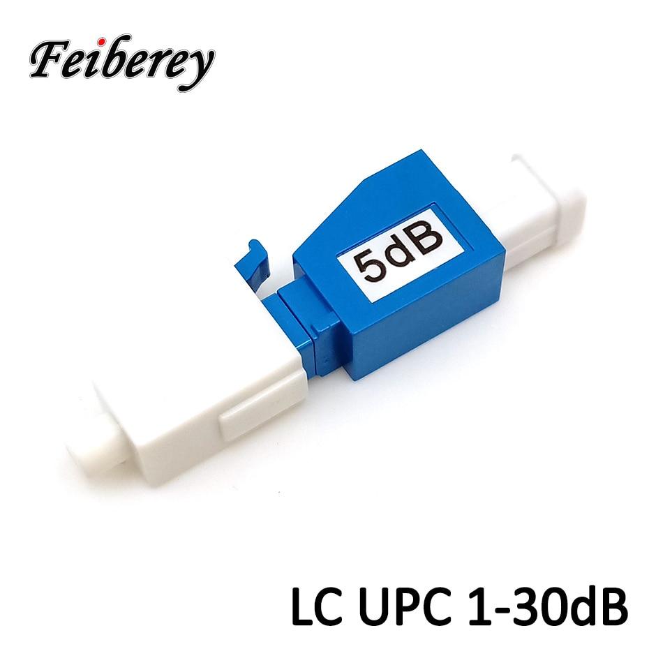 LC UPC Single Mode Fiber Optic 2dB 3dB 5dB 7dB 10dB 15dB Attenuators LC Flange Optical Fiber Signal Attenuator for FTTH Project lc apc optical attenuator lc lc singlemode female to male 5db ftth fiber optic attenuator