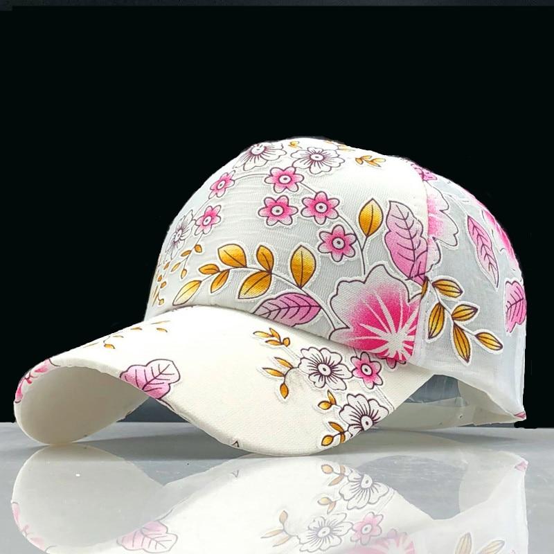Gorra de béisbol Simple para mujer, gorra de béisbol con bordado de flores para niñas, gorra de béisbol para mujer, gorro femenino de malla de verano, sombrero de pesca para sol