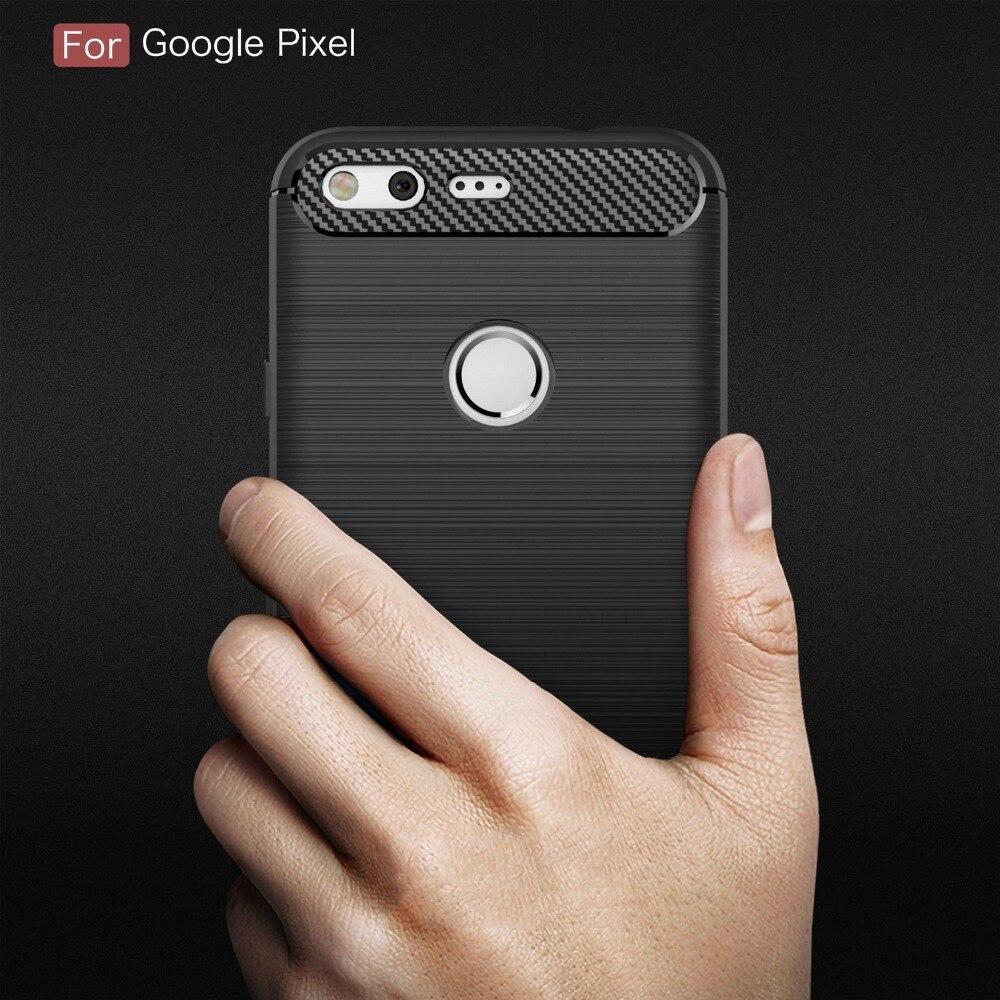 Funda de TPU de silicona y fibra de carbono de colores para Google Pixel 1 2 3 4 3A XL, funda para Pixel2 Pixel3 Pixel3A XL, funda protectora trasera
