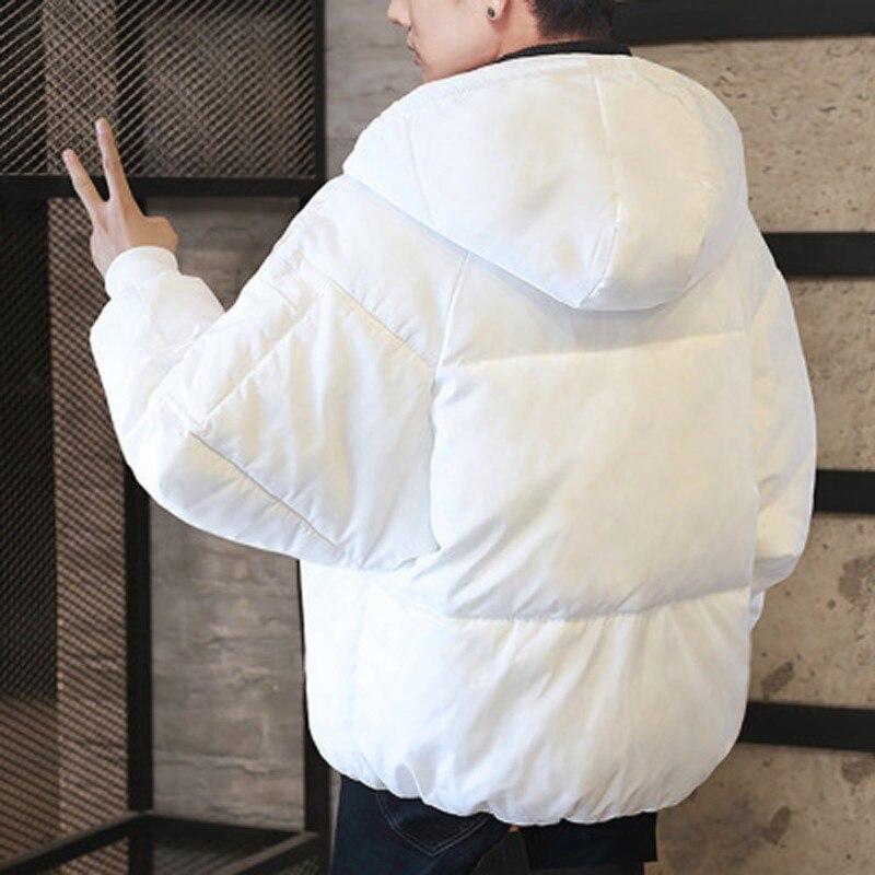 Куртка мужская зимняя однотонная на молнии, черная свободная парка, толстовка с капюшоном, теплая одежда, ограничено по времени