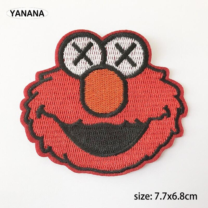 Vermelho Dos Desenhos Animados Cabeça retrato Colar de Ferro em Bordados Patch para o Vestuário