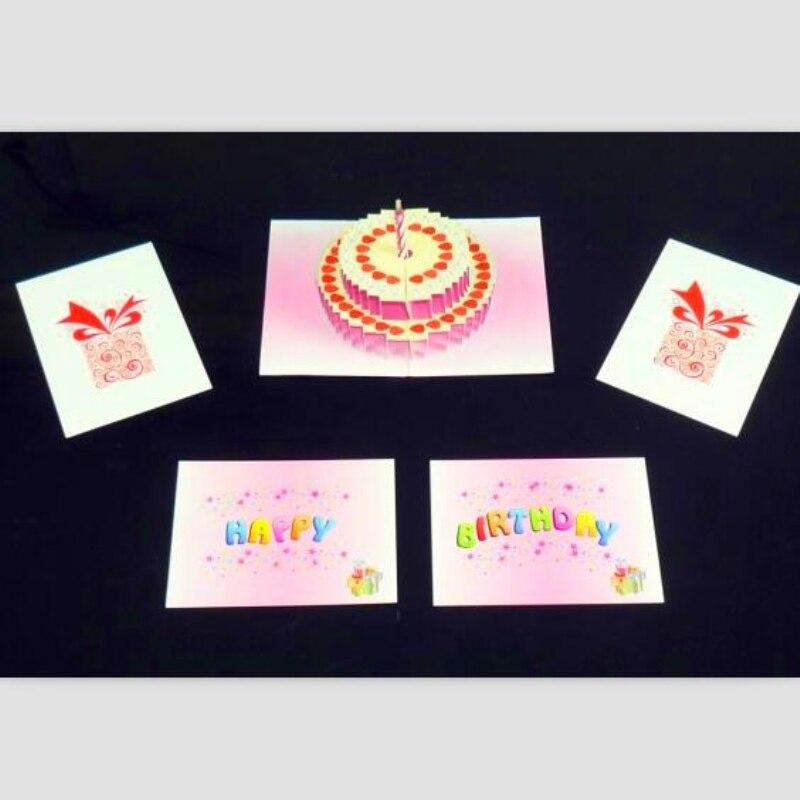 Tarjeta para pastel Pop sorpresa magia para cumpleaños trucos de magia que desaparece magia etapa accesorios de ilusionismo trucos de magia profesionales