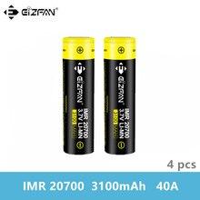 Бесплатная доставка EIZFAN IMR 20700 3100mAh 40A аккумуляторная батарея EFAN Li-Ion для Vaporesso Eleaf Wismec SMOK Voopoo IJOY PD270