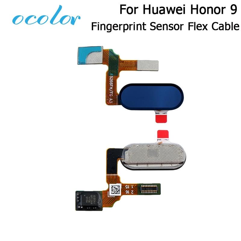 ocolor For Huawei Honor 9 Fingerprint Sensor Flex Cable For Huawei Honor 9 Fingerprint Scanner Replacement Parts High Quality