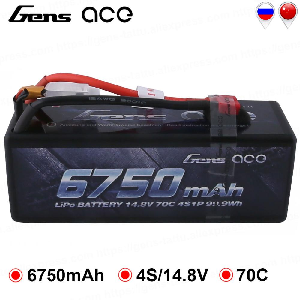 Gens ace 4 S 6750 mAh Lipo 14,8 V Batterie Pack 70C XT90 T Stecker für Traxxas X-maxx 1/8 auto Lipo Batteria Quad Drone Boot