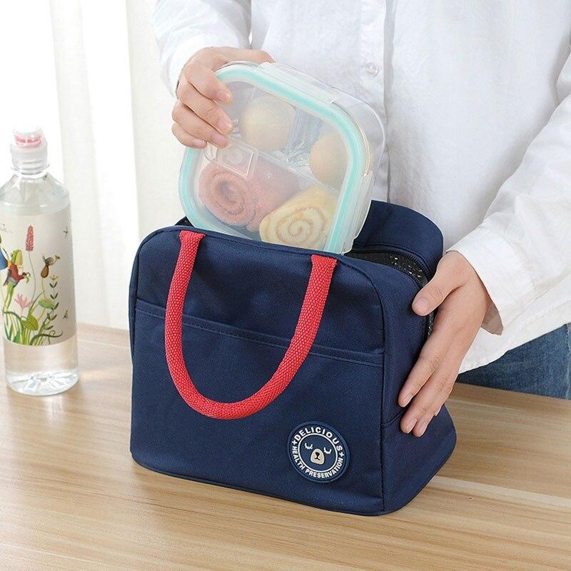 Mihawk Oxford Lunch Bag Women Kids Insulated Cooler Box Men Thermal Insulation Food Picnic Bento Tote Case Accessories Zip Stuff