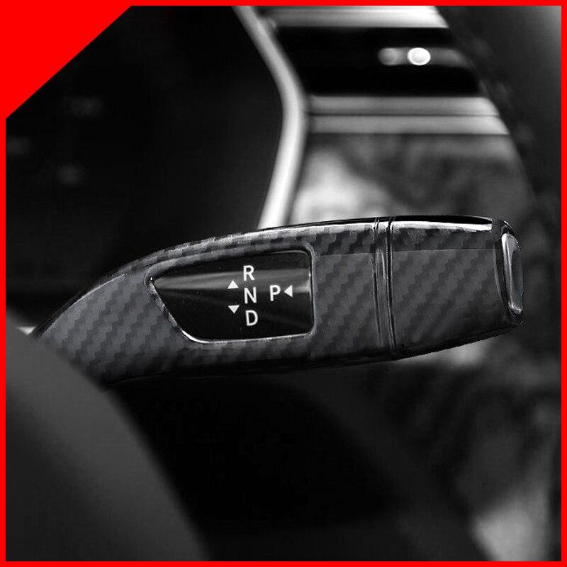 Interruptor de limpiaparabrisas de coche, cubierta protectora de decoración, modificación de fibra de carbono cromada para Tesla Model S modelo X 2016 2017