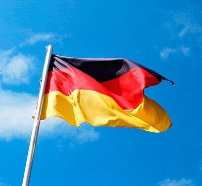 1 unidad 90*150cm negro rojo amarillo De Deu alemán Deutschland Bandera De Alemania para la decoración De la Copa del Mundo decoración del partido De Fútbol