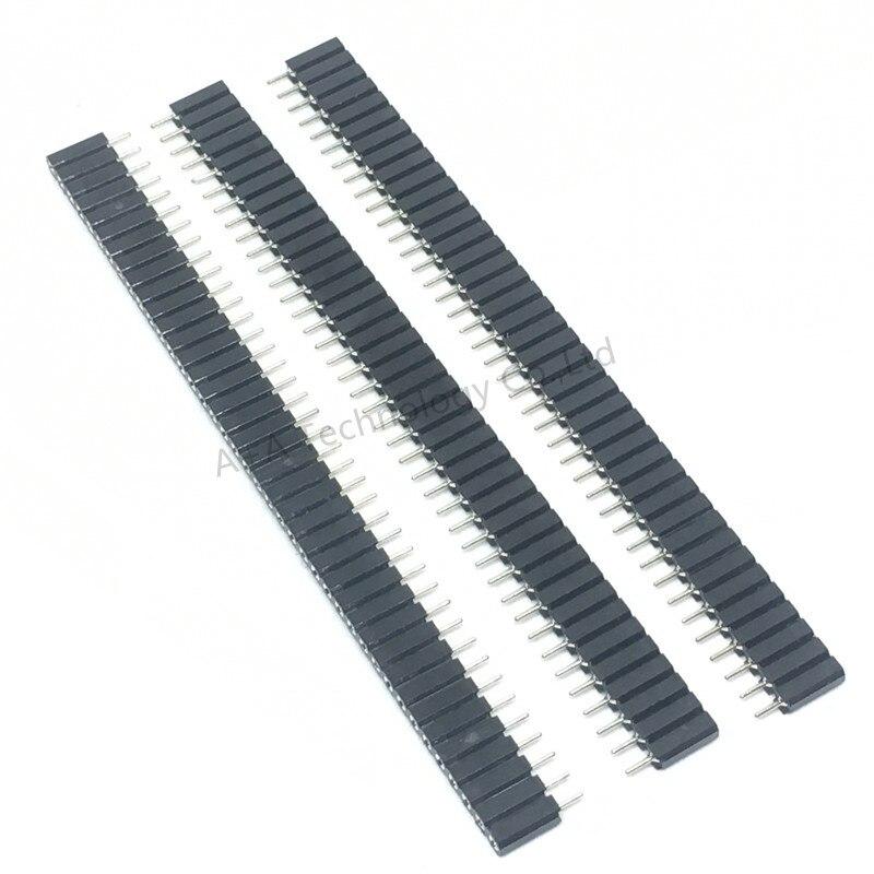 5 PCS 1X40 PIN Single Row RODADA FEMININO CABEÇALHO PIN 2.54 MILÍMETROS ARREMESSO isolador Conector Tira 7.0 MILÍMETROS tomada 40 p 40PIN 40 PIN PARA PCB