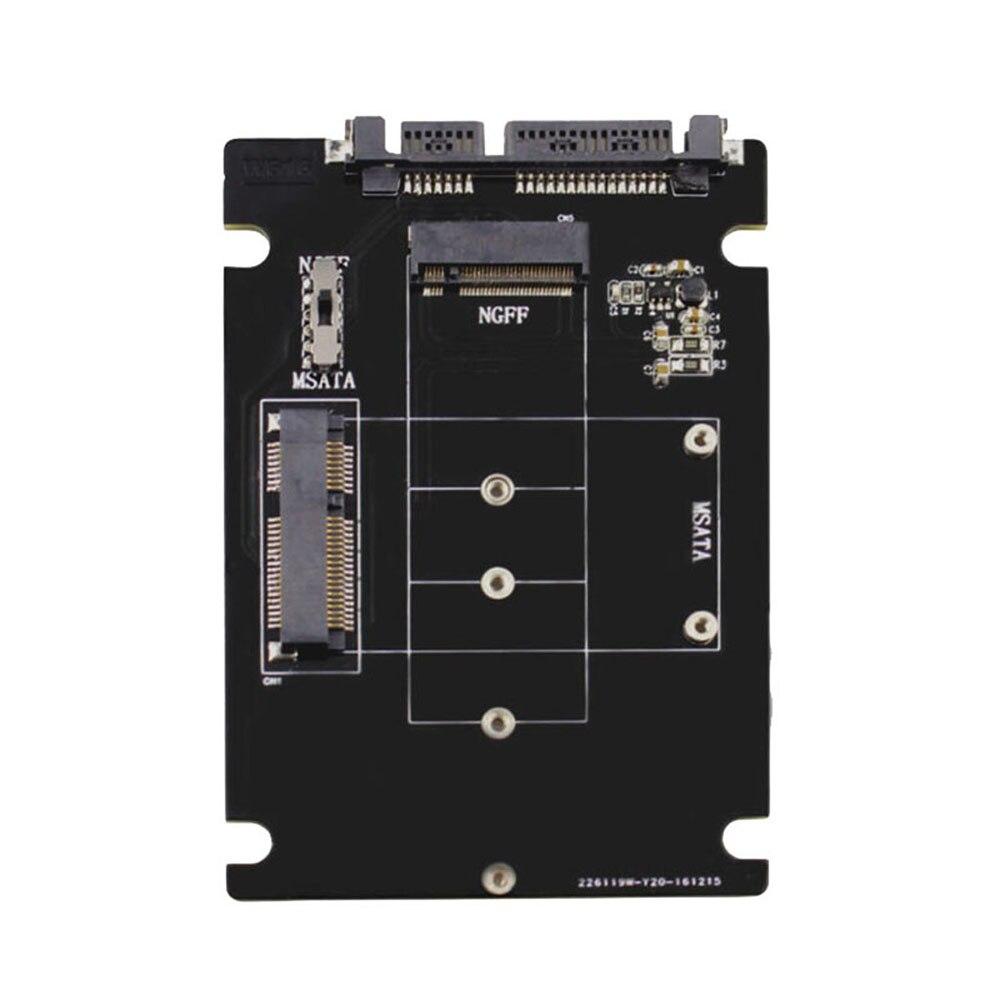 Tarjeta adaptadora de S107-RTK tarjeta de expansión convertidor/Adaptador 2 en 1 compatible con disco de estado sólido mSATA/M.2 NGFF SSD para escritorio