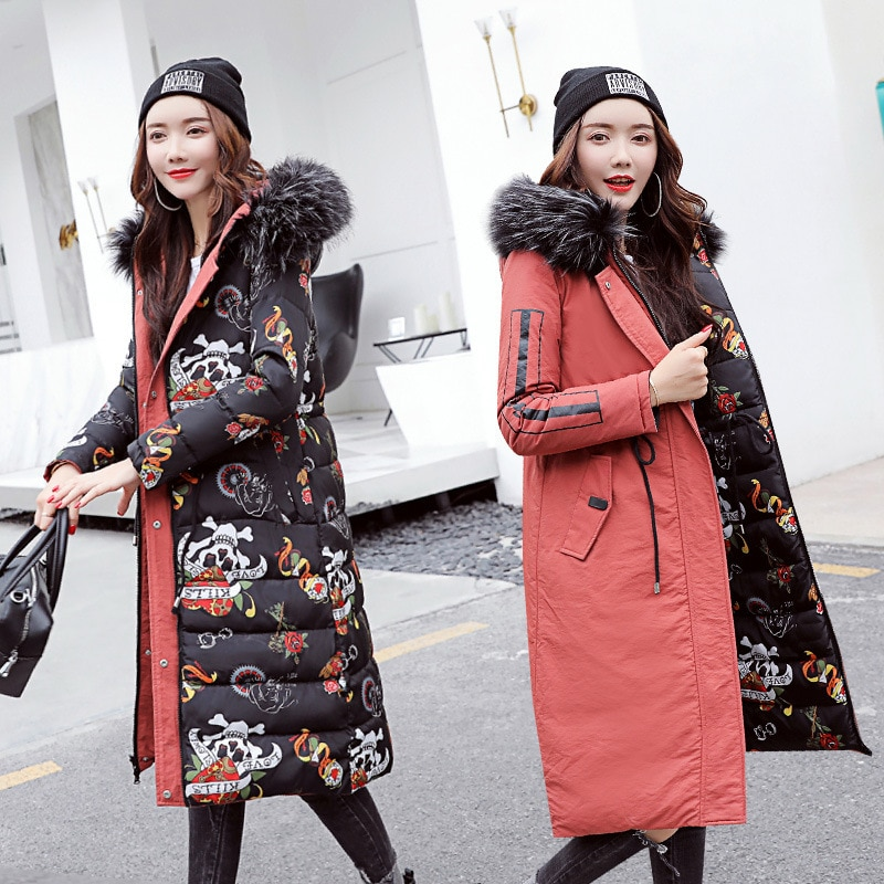 Chaqueta con capucha Reversible para Mujer, abrigo largo y grueso con cuello...