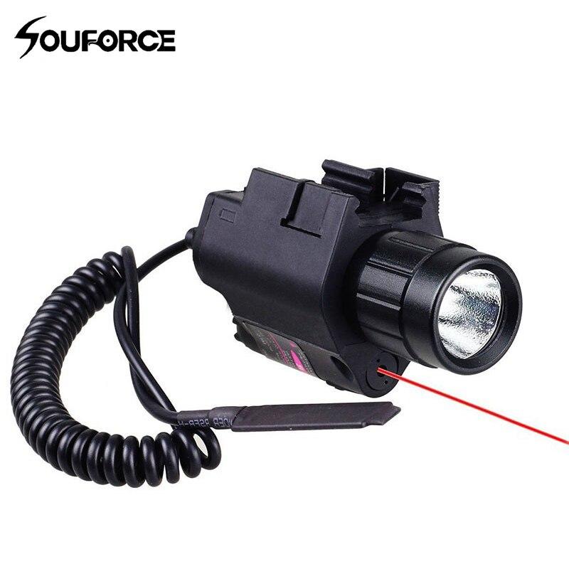 1pc tactical red dot laser vista com 200lm led lanterna 2in1 combo com controle remoto para espingarda pistola rifle