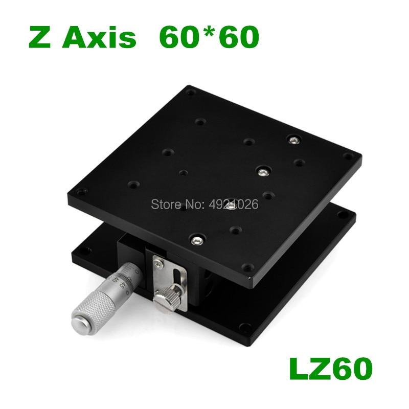 Z محور 60*60 مللي متر LZ60 البصرية النزوح منصة عالية الدقة ميكرومتر ارتفاع قابل للتعديل انزلاق المرحلة انزلاق الجدول