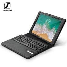 Vente chaude Bluetooth clavier étui pour iPad Air 1/2 amovible en cuir sans fil clavier couverture pour iPad 5/6 [iOS 10 + Support]
