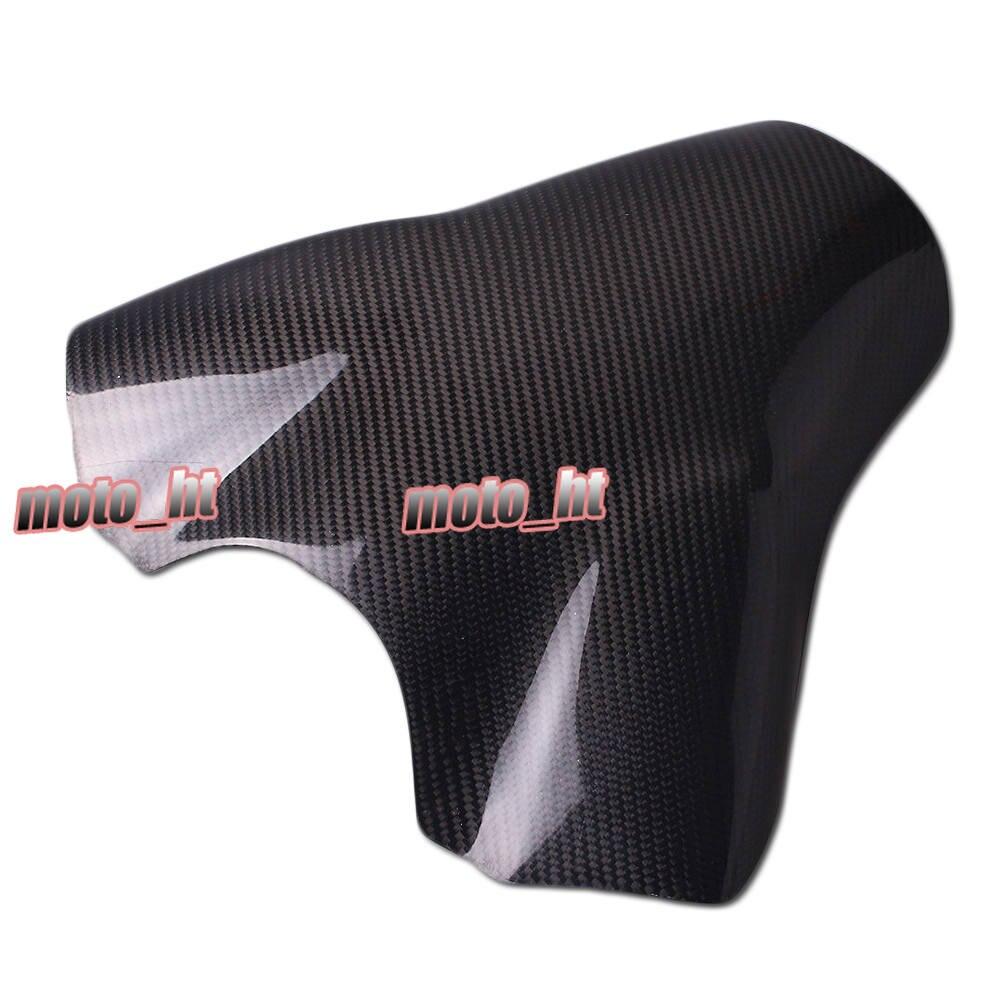 Para Yamaha motocicleta tanque de combustible cubierta Protector fibra de carbono YZF R1 2007 2008 piezas accesorios