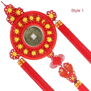 Hand-woven Large Copper Coin New Chinese Knots Pendant New House Decoration Home Gift Chinese Knot Amulet Good luck to decorate