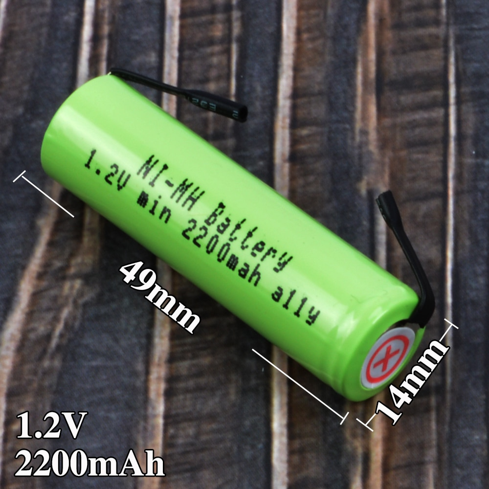 1.2 V AA 2200 mah bateria recarregável para Philips HQ487 HQ488 HQ489 HQ4806 S500 HQ362 HQ6970 HQ6990 HQ6945XL barbeador navalha bateria