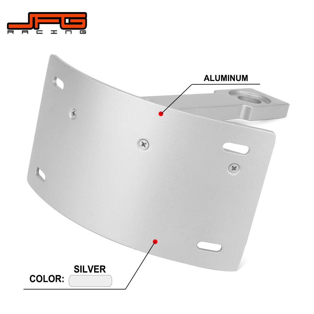 Soporte de placa de matrícula de montaje curvo de aluminio CNC para motocicleta para YAMAHA Warrior 2002 2003 2004 2005 v-max VMax
